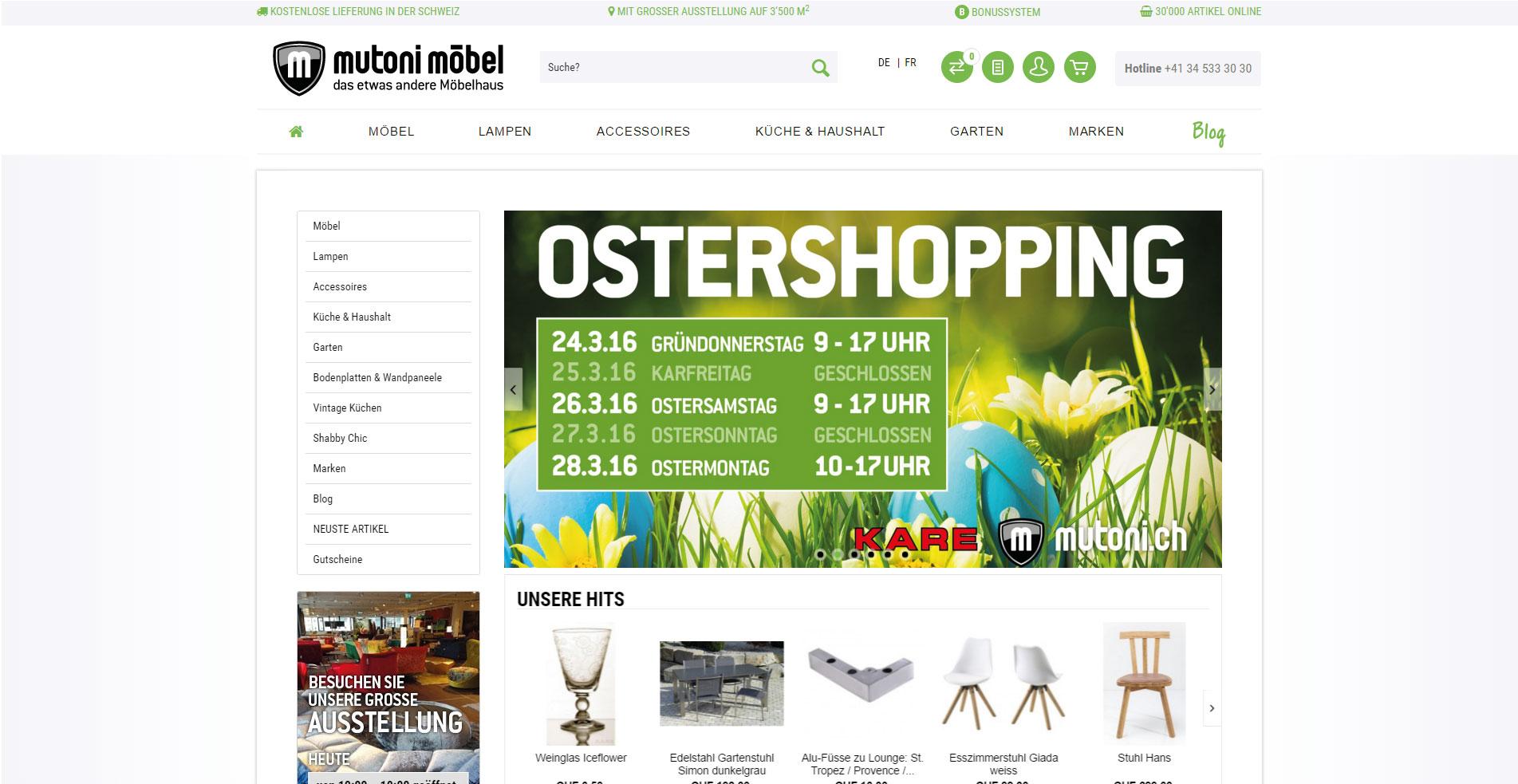 design möbel lyssach ag | kmudo | ihr partner für webshop