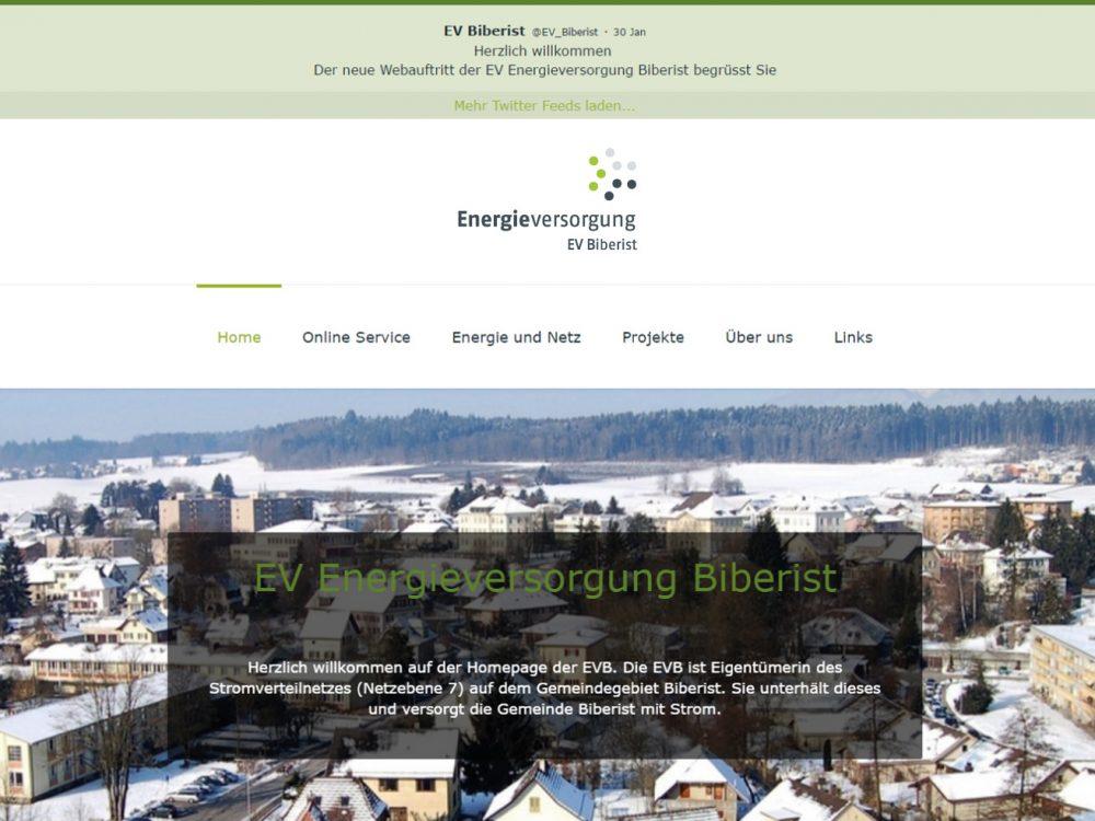 Startseite EV Energieversorgung Biberist